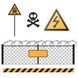 Abstrakcjonistyczni znaki ostrzegawczy ustawiający Zdjęcia Stock