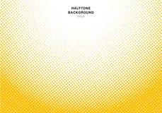 Abstrakcjonistyczny żółty halftone promieniowy skutek na białym tle Rocznik lub retro grafika styl ilustracji