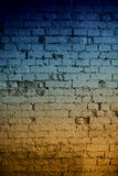 Abstrakcjonistyczny ściana z cegieł tło Zdjęcia Royalty Free