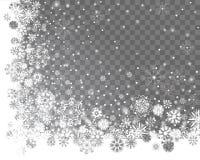Abstrakcjonistyczny śniegu kąta ramy projekt na przejrzystym tle ilustracja wektor