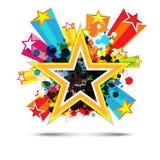 Abstrakcjonistyczny świętowania gwiazdy tło Obrazy Royalty Free