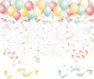 Abstrakcjonistyczny świętowanie faborek jest wystrzelonym stylem: Wystrzelony piękny Zdjęcia Royalty Free