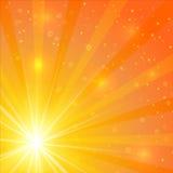 Abstrakcjonistyczny światła słonecznego tło Zdjęcie Royalty Free