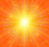 Abstrakcjonistyczny światła słonecznego tło Obrazy Stock