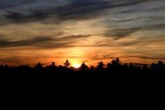 Abstrakcjonistyczny światło słoneczne na wieczór czasie obraz royalty free