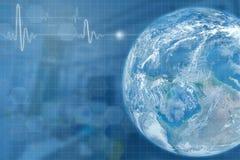 Abstrakcjonistyczny światowy medyczny z jajecznym i dwoistym ujawnieniem z IC obraz royalty free