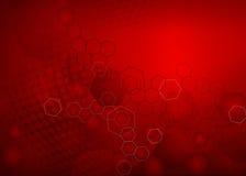 Abstrakcjonistyczny Świeży Czerwony bezpłatnego radykała cząsteczkowy tło Zdjęcia Stock