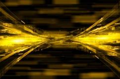 Abstrakcjonistyczny żółty techniki tło Zdjęcie Stock