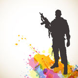 Abstrakcjonistyczny żołnierz Obrazy Stock