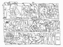 Abstrakcjonistyczny życie w Madhouse royalty ilustracja