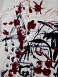 Abstrakcjonistyczny acrilic obraz Zdjęcia Stock