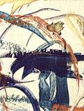 Abstrakcjonistyczny acrilic obraz Zdjęcie Royalty Free