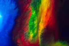 Abstrakcjonistyczny akrylowej farby mieszanki stubarwny tło Obrazy Stock