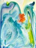 Abstrakcjonistyczny akrylowy atramentu tło obraz stock