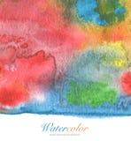 Abstrakcjonistyczny akrylowy i akwarela malujący tło Zdjęcie Royalty Free