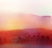 Abstrakcjonistyczny akrylowy i akwarela malujący tło Zdjęcia Royalty Free