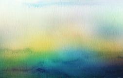 Abstrakcjonistyczny akrylowy i akwarela malujący tło Fotografia Royalty Free