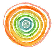 Abstrakcjonistyczny akrylowy i akwarela okrąg malujący tło zdjęcie stock