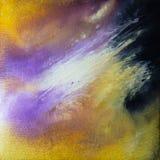 Abstrakcjonistyczny akrylowy nowożytny współczesny purpurowy biały wybuch zdjęcie royalty free