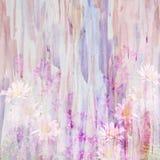 Abstrakcjonistyczny akwarela obraz łączył z dzikimi kwiatami Obrazy Stock