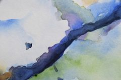 Abstrakcjonistyczny akwareli backround na papierze Obraz Stock