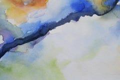 Abstrakcjonistyczny akwareli backround na papierze Zdjęcia Royalty Free