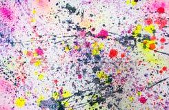Abstrakcjonistyczny akwareli farby pluśnięcie ilustracja wektor