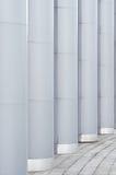 Abstrakcjonistyczny Aluminiowy Geometryczny tło Graficzna abstrakcja Zdjęcia Stock