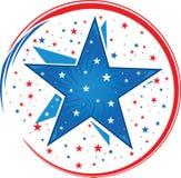 abstrakcjonistyczny amerykański patriotyczny Fotografia Royalty Free
