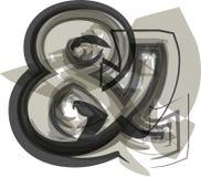 Abstrakcjonistyczny Ampersand symbol Zdjęcia Stock