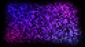 Abstrakcjonistyczny animaci tło z rozmigotywać cząsteczki ściana, błękitni odcienie ilustracji
