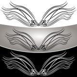 Abstrakcjonistyczny anioła skrzydła set Zdjęcia Royalty Free