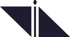 Abstrakcjonistyczny anioła logo obraz stock