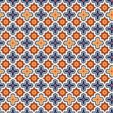 Abstrakcjonistyczny arabski islamski bezszwowy geometryczny deseniowy tło również zwrócić corel ilustracji wektora royalty ilustracja