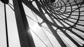 abstrakcjonistyczny architektoniczny czarny i biały tło Fotografia Stock
