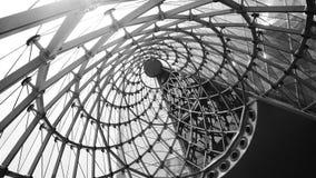 abstrakcjonistyczny architektoniczny czarny i biały tło Zdjęcie Stock