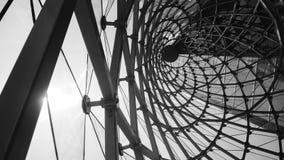 abstrakcjonistyczny architektoniczny czarny i biały tło Zdjęcia Stock