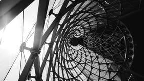 abstrakcjonistyczny architektoniczny czarny i biały tło Zdjęcia Royalty Free