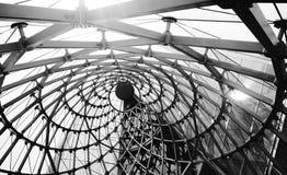 abstrakcjonistyczny architektoniczny czarny i biały tło Obrazy Stock