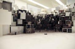 Abstrakcjonistyczny architektoniczny model miasto w Chiny Obrazy Royalty Free