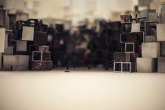 Abstrakcjonistyczny architektoniczny model miasto w Chiny Obraz Royalty Free