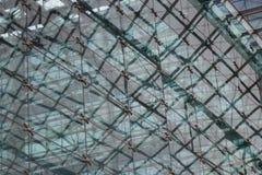 Abstrakcjonistyczny architektoniczny wzór, szklana fasada nowożytny budynek Zdjęcia Royalty Free