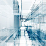 Abstrakcjonistyczny architektury pojęcie Zdjęcia Stock
