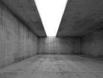 Abstrakcjonistyczny architektury tło, opróżnia betonowego pokój royalty ilustracja