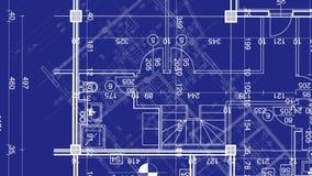 Abstrakcjonistyczny architektury tło: projekta domu plan ilustracji