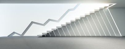 Abstrakcjonistyczny architektury tło w pomyślnym biznesowym pojęciu Zdjęcia Stock