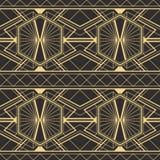 Abstrakcjonistyczny art deco płytek nowożytny wzór Obraz Royalty Free