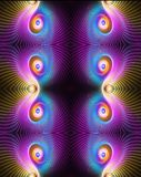 Abstrakcjonistyczny artystyczny 3d komputer wytwarzał piękną stubarwną elegancką średnią curvy okulistyczną fractal grafikę ilustracja wektor