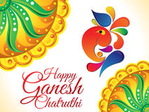 Abstrakcjonistyczny artystyczny ganesh chaturthi tło Obrazy Royalty Free