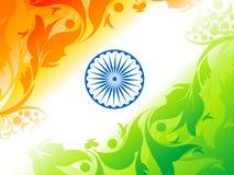 Abstrakcjonistyczny artystyczny hindus flaga tło Obraz Stock